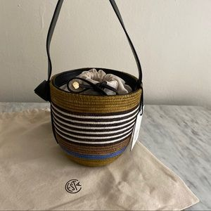 Cesta Collective straw mini bucket lunchpail bag